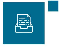 Petrol blue icon of a file box