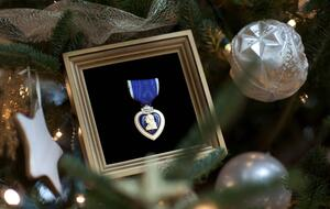 1,150 Purple Heart Christmas ornments were erroneously mailed out last week - Photo: Imago/UPI